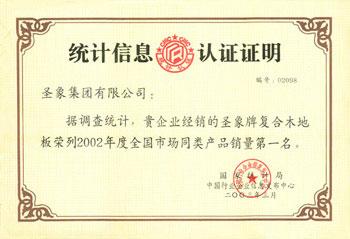 2002全国市场同类产品销量第一名