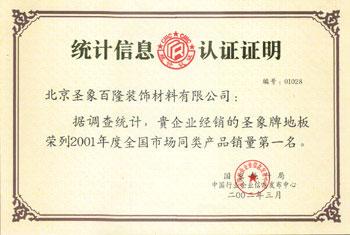 2001全国市场同类产品销量第一名