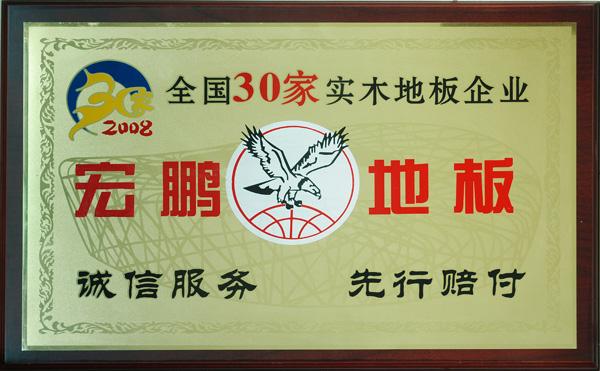 2008全国30家实木地板企业