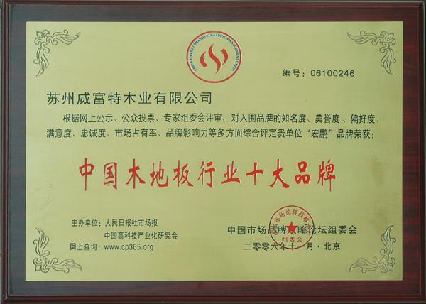 中国木地板行业十大品牌