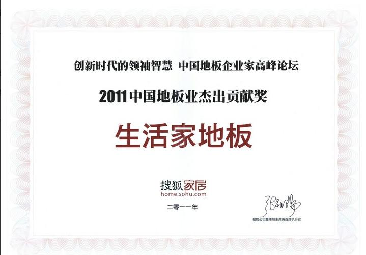 2011年中国地板业杰出贡献奖