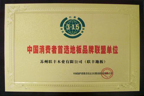 中国消费者首选地板品牌联盟单位
