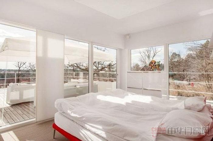 住宅室外的美妙风景02北欧风格阳台门装修效果图