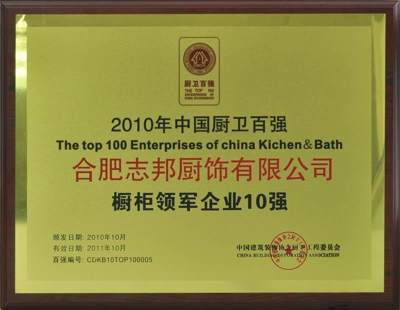 中国橱柜领军企业10强