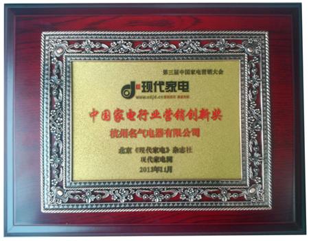 中国家电行业营销创新奖