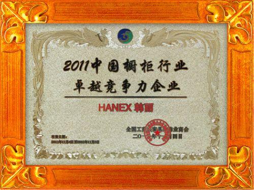 2011中国橱柜行业卓越竞争力企业