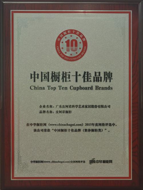 中国橱柜十佳品牌