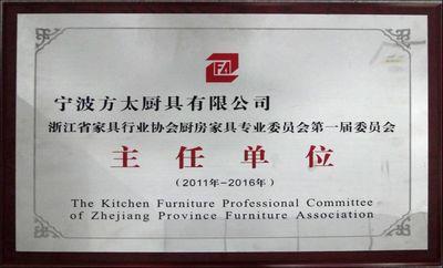 浙江省家具行业协会厨房家具专业委员会主任单位