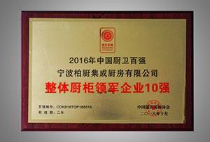 2016年中国厨卫百强整体厨柜领军企业10强