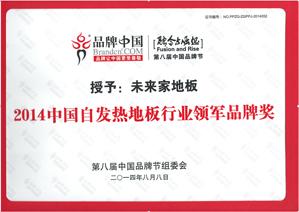 2014中国自发热地板行业领军品牌