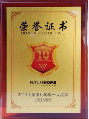 2015中国强化地板十大品牌
