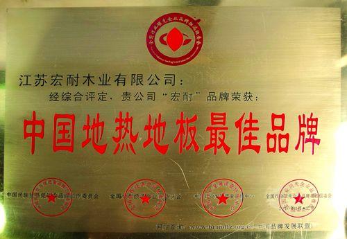 2010中国地热地板最佳品牌