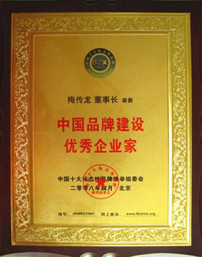 中国品牌建设优秀企业家