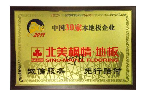 中国30家木地板企业