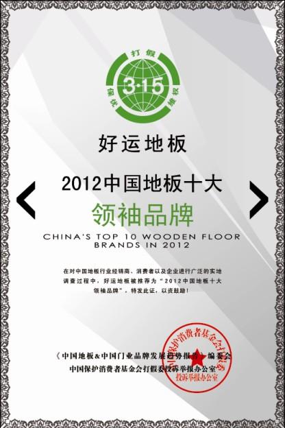 2012中国地板十大领袖品牌