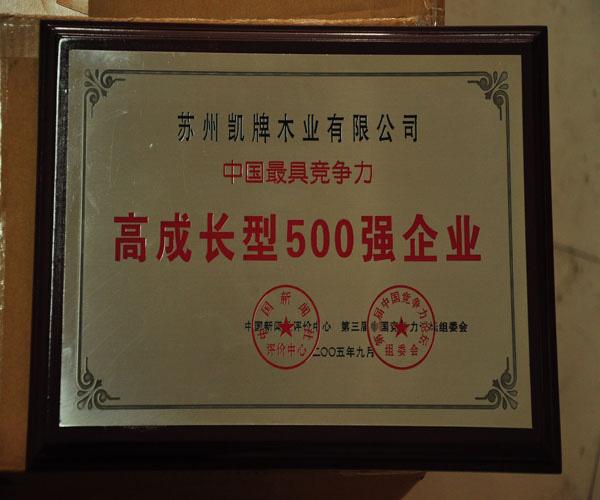 高成长型500强企业