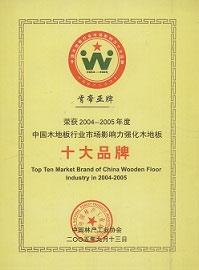 中国强化木地板十大品牌