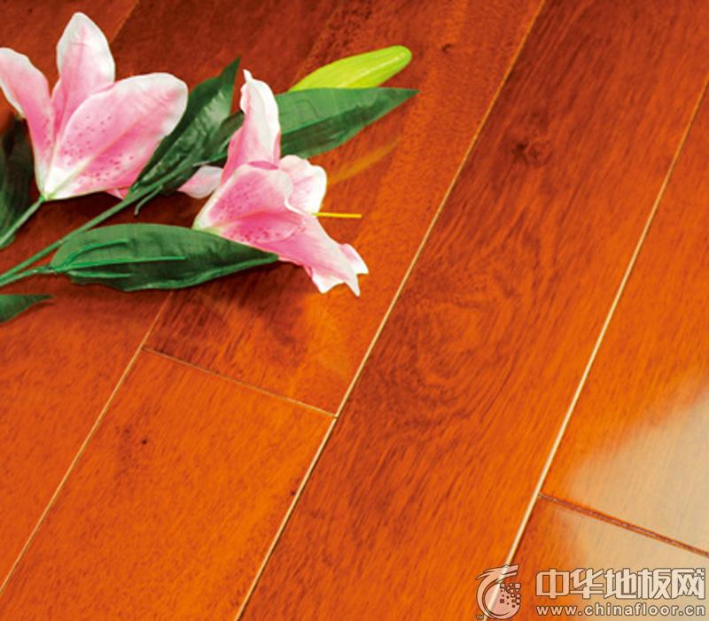 安德地板-实木地板-S6001 番龙眼浅