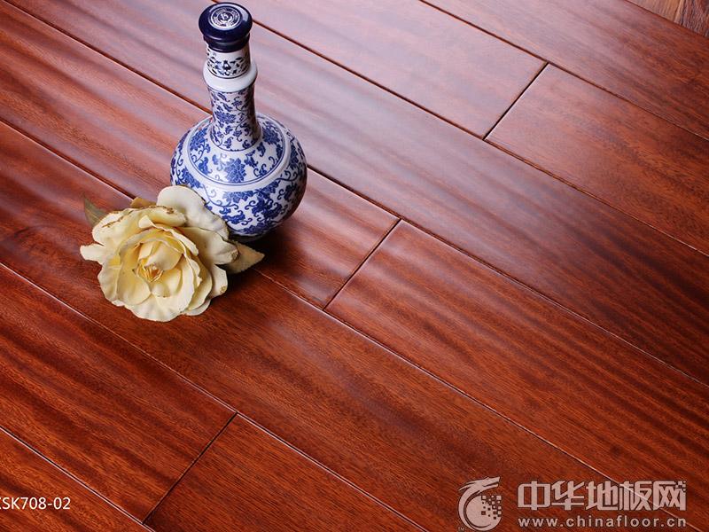 昌欣地板-实木地热锁扣系列-CXSK708-02格木