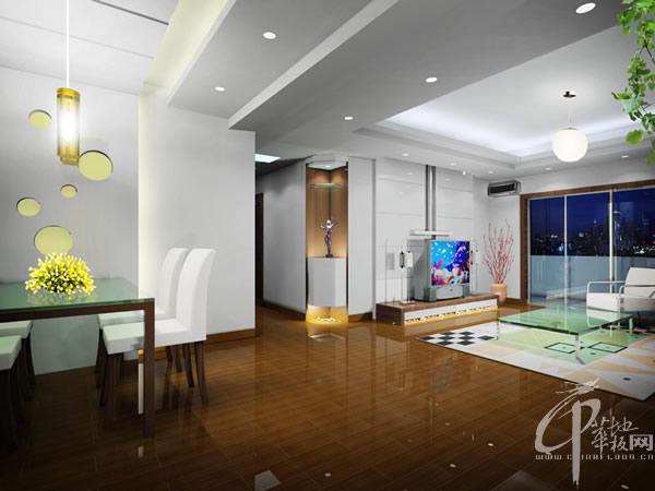 现代家装效果图-木地板装修效果图