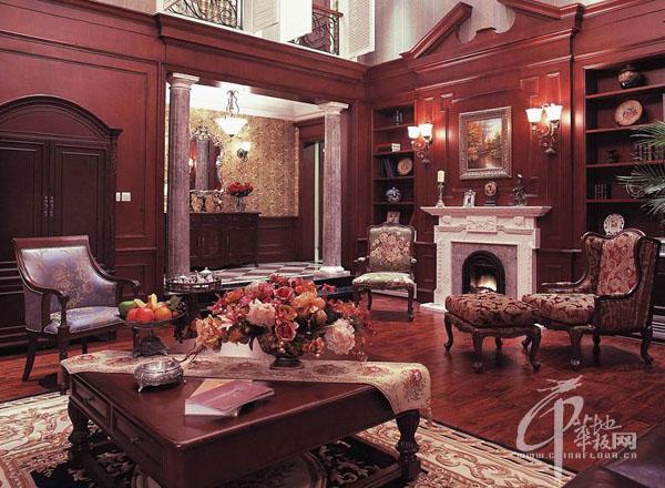 欧式古典装修-木地板装修效果图