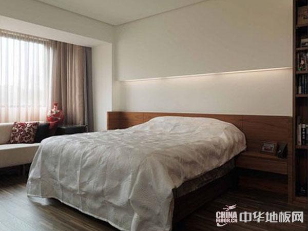 地板装修效果图-卧室简约现代