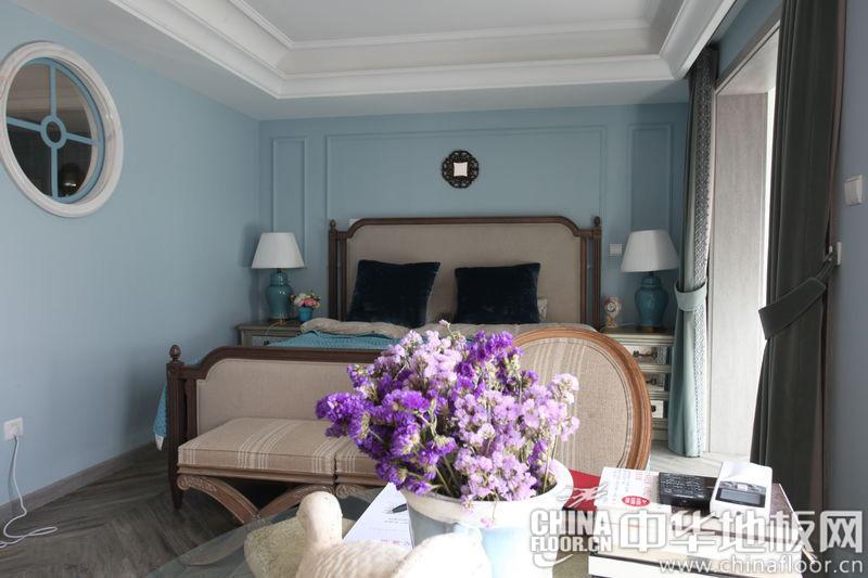 卧室地板图片 严丝合缝的法式卧室装修
