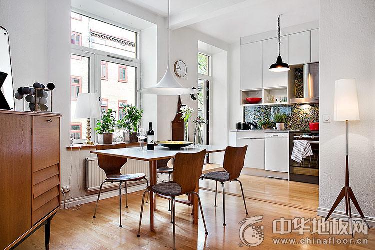 实木地板装修效果图 时尚的咖啡色小宅