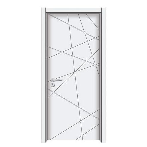 简约风格几何线条木门图片 合力木门装修效果图