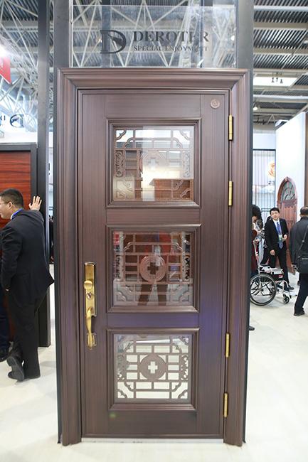 德诺特高端安全门图片 中式玻璃门图片