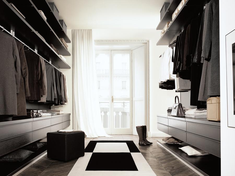 永恒Y057衣帽间套装 现代风格设计 I型衣帽间 整体衣柜定制