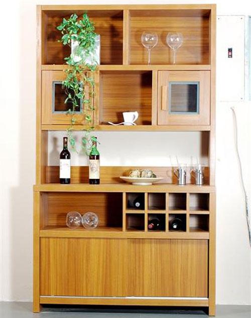 奥尔登衣柜图片 实木酒柜效果图