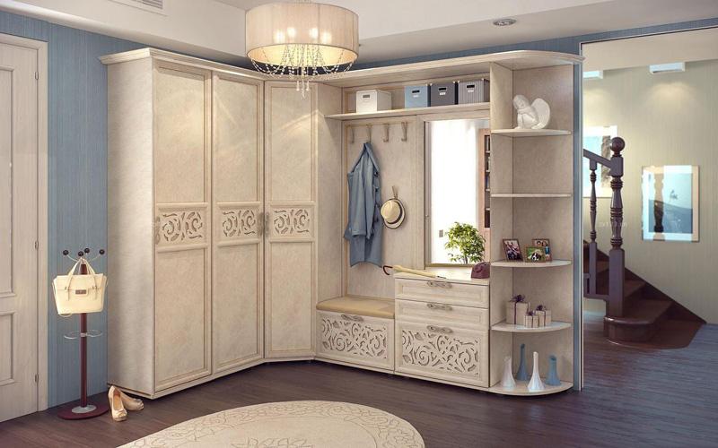 韩式玄关衣柜效果图 转角设计展现美感
